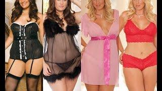 Мода для полных женщин. Нижнее белье - Показ мод.