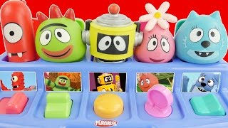 Yo Gabba Gabba Pop Up Pals Musical Boombox PopUp Toy With Plex Brobee Foofa Mashems