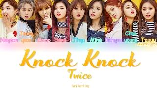 TWICE (트와이스)  Knock Knock (Color Coded) (HANROMENG) Lyrics