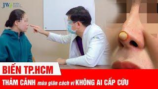 CHẤN ĐỘNG Sài Gòn: ĐAU ĐỚN NỔ TUNG ĐẦU MŨI do hoại tử mũi không ai CẤP CỨU vì AI Ở ĐÂU, Ở YÊN ĐÓ