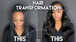 HAIR TRANSFORMATION VLOG   MY I-TIP EXTENSIONS   ALLYIAHSFACE   BEAUTYFOREVER