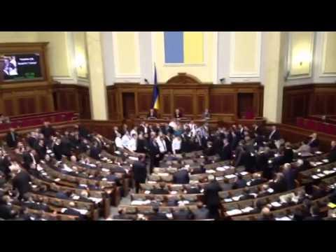 Brawl in the Ukrainian parliament
