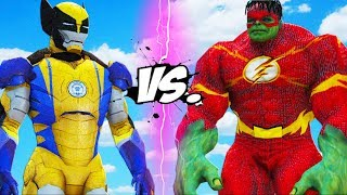 IRON MAN - WOLVERINE VS FLASH - HULK
