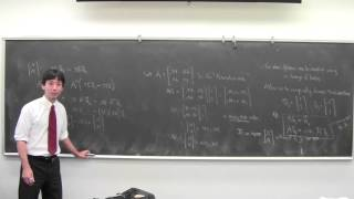 Change of basis: coordinate vector with respect to a basis in Euclidean space; example of a Markov process whose behavior is clarified with a different basis...
