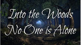 Into the Woods-No One is Alone (lyrics)