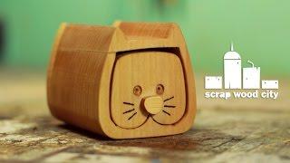 DIY mini bandsaw box - The cat
