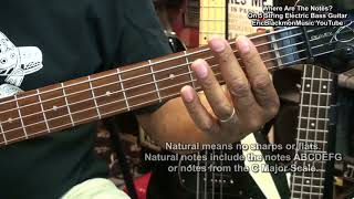 Getting Started On 5 String Bass #4 - Where Are The Notes On 5 String Electric Bass FIRST