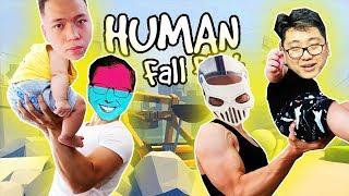 HUNTER & DẼO NUỐT NƯỚC MẮT GÁNH TEAM RỒI DÂNG CÔNG CHÚA CHO BỌN NÓ =)))) - Human Fall Flat