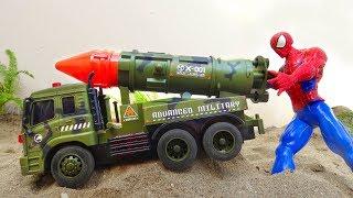 Spider man, rocket car, excavator, dump truck, race car - F295P Toys for kids