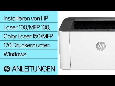 Installieren eines Druckers der Serien HP Laser 100, MFP 130 und Color Laser 150, MFP 170 unter Windows
