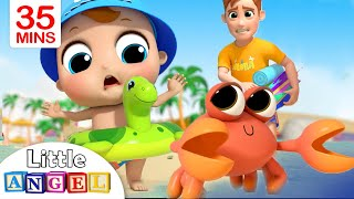 Fun Day at the Beach | Sea Animal Song | Little Angel Kids Songs & Nursery Rhymes