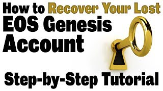 How to Recover Your Lost EOS Genesis Account (Step-by-step walk-through to swap key, using ETH key)