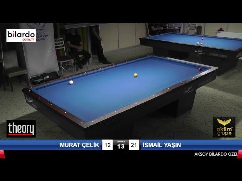 MURAT ÇELİK & İSMAİL YAŞIN Bilardo Maçı - AKSOY BİLARDO 3 BANT TURNUVASI-3. Tur