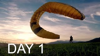 Learning how to Paraglide Vlog and First Flight!