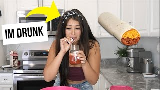 Trying to RECREATE Taco Bell Food DRUNK | Kooking with Karlee