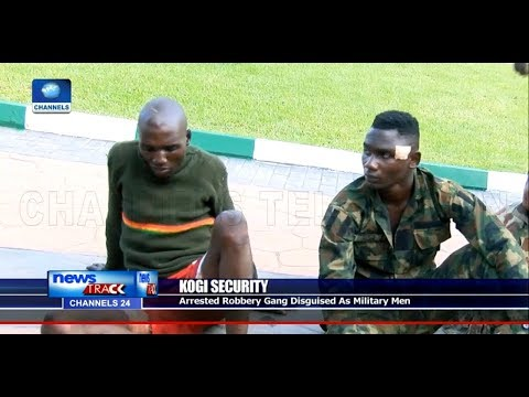 Police Parade Suspected Armed Robbers Disguised As Army In Kogi