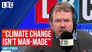 James O'Brien schools caller who says climate change isn't man-made