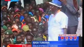 Raila Odinga azuru eneo la Turkana