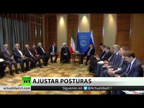 Putin y Rohaní abordan la cooperación y los tratados internacionales en China