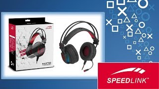Speedlink MAXTER 7.1 Surround Gaming Headset Unboxing