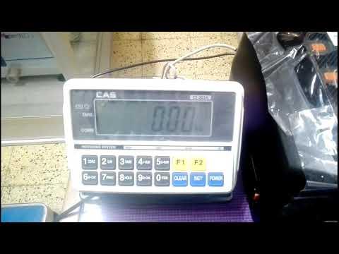 Balanza CAS CI201A con impresora de codigos de barras