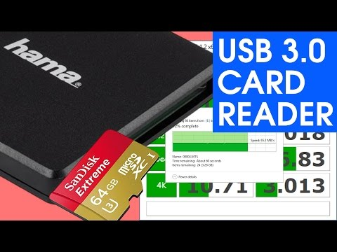 Hama USB 3.0 CF SD microSD UHS-I Card Reader SPEED TEST & UNBOXING
