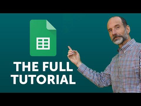 Google Sheets - Full Tutorial