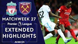 Liverpool v. West Ham United   PREMIER LEAGUE HIGHLIGHTS   2/24/2020   NBC Sports