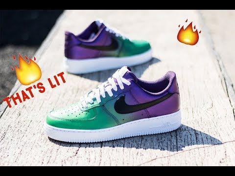 free shipping 19ea7 cbe47 How To  Custom Shoes Air force ones   The Joker   Angelus