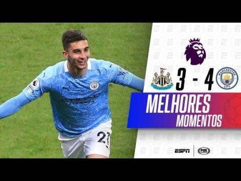 GOLAÇO 'NINJA' SURREAL! Melhores momentos de Newcastle 3 x 4 Manchester City na Premier League