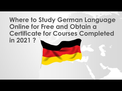 Where to Study German Language Online for Free and Obtain a ...