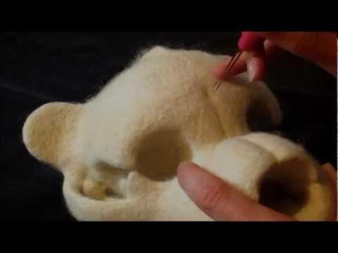 The Interesting Art Of Needle-Felting A Teddy Bear Skull