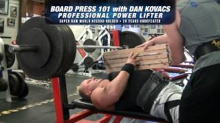 Dan Kovacs- Benefits of doing Board Press