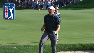 Jordan Spieth's incredible bunker shot to win Travelers