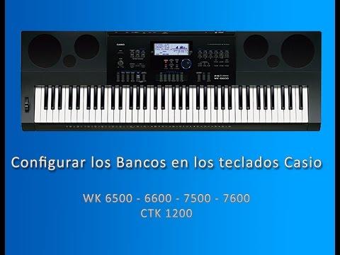Configurar los Bancos  de los teclados Casio WK y CTK
