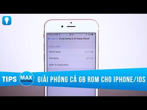 Cách giải phóng cả GB bộ nhớ trong cho iPhone