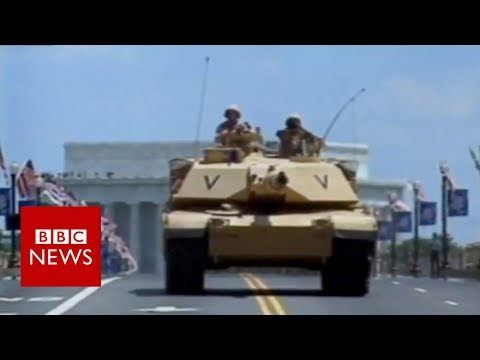 Fallen soldier's mother remembers last US military parade – BBC News