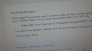 AdRev For A 3rd Party YouTube Copyright Claims SOLVED!