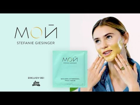 Golden Hydrogel Face Mask - MOй by Stefanie Giesinger