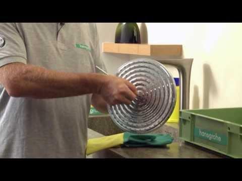 Entkalken und reinigen einer Kopfbrause: Hansgrohe Raindance 240