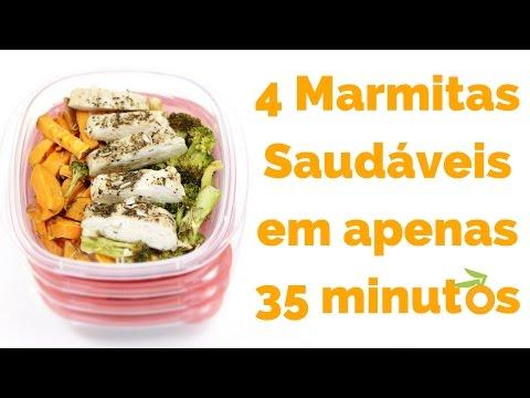 Receita #1 Como Preparar Marmita Saudável Para a Semana em 35 minutos
