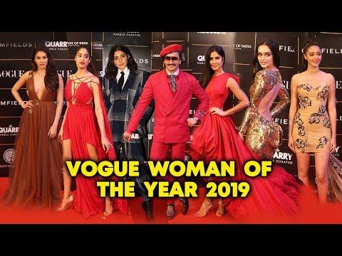 2019 Vogue Woman Of The Year Awards   FULl VIDEO   Ranveer, Katrina, Ananya Panday