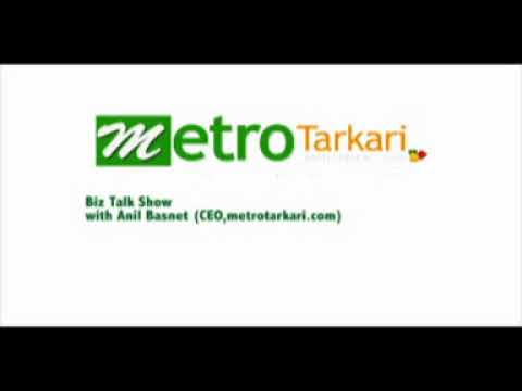 A Biz Talk show with Mr. Anil Basnet, CEO of metrotarkari.com on Biz FM 94.9