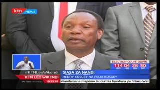 Henry Kosgei na aliyekuwa waziri wa Kilimo Felix Kosgei wazindua manifesto zao