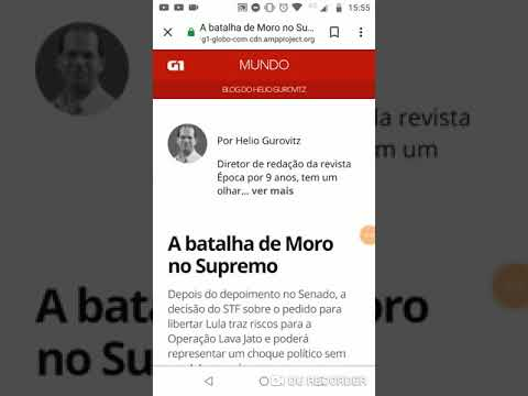 G1: a batalha de moro no supremo [Fake news]