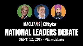 National Leaders Debate 2019: Full video | Maclean's and Citytv