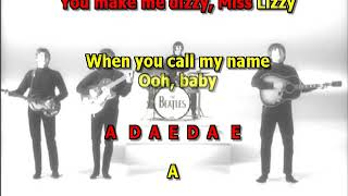 Dizzy MIss Lizzy Beatles best karaoke instrumental lyrics chords