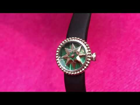 Dior's Rose des Vents watch with a malachite dial