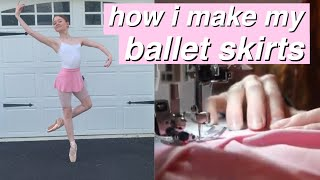 HOW I MAKE MY BALLET SKIRTS! | INTRODUCING NOELLE DANCE WEAR
