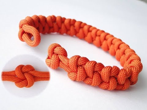"""How to Make a """"True Lovers Knot"""" Paracord Bracelet/Knot and Loop Closure"""